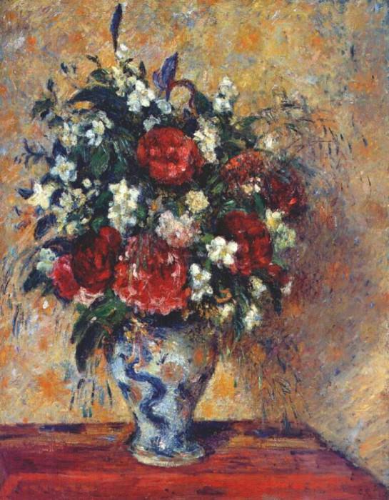 pissarro vase of flowers 1877-8. Camille Pissarro