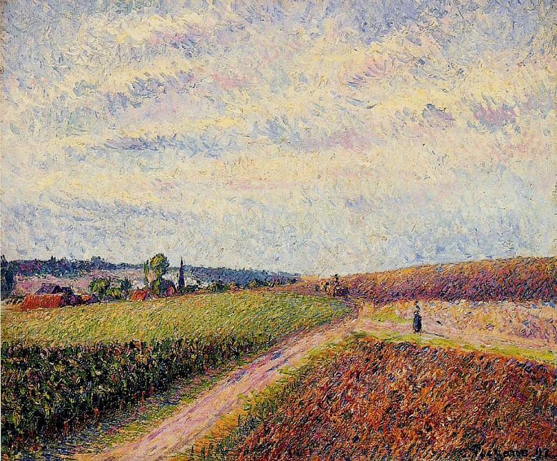 View of Eragny. (1892). Camille Pissarro