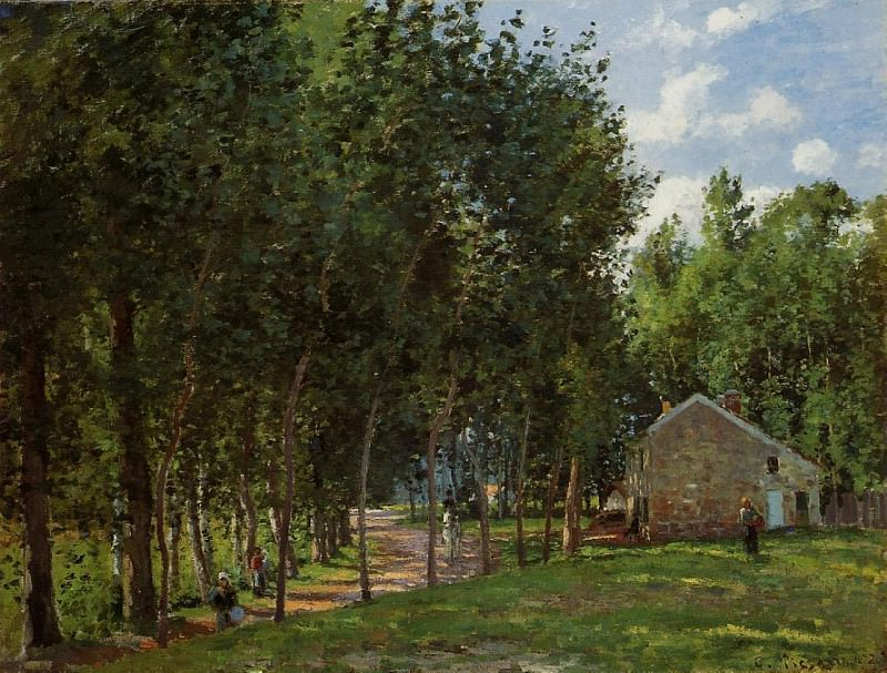 Дом в лесу (1872). Камиль Писсарро
