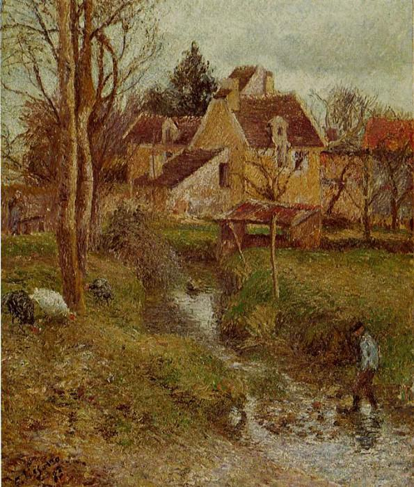 The Brook at Osny. (1883). Camille Pissarro