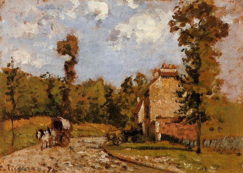 Road in Port-Maryl. (1872). Camille Pissarro