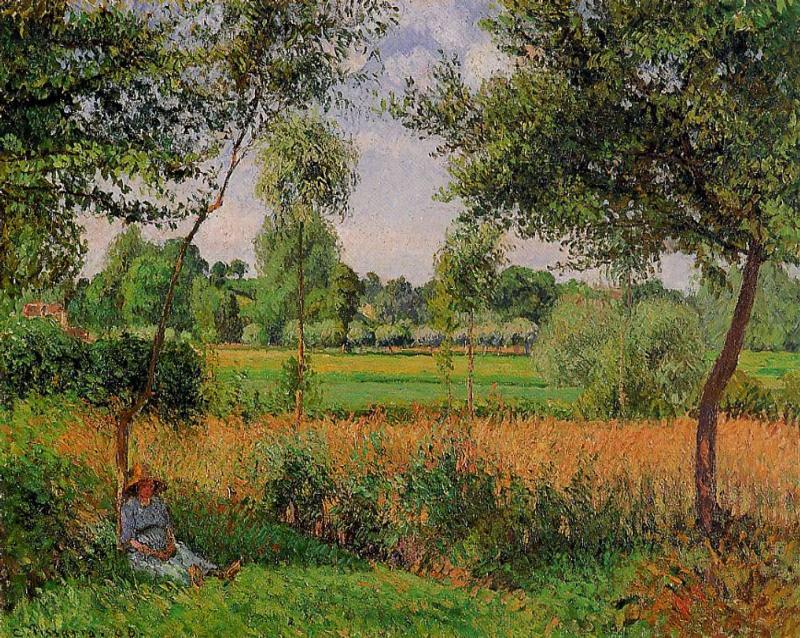 Впечатление от солнечного утра, Эраньи (1899). Камиль Писсарро