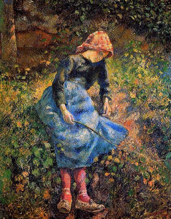 The shepherdess. Camille Pissarro