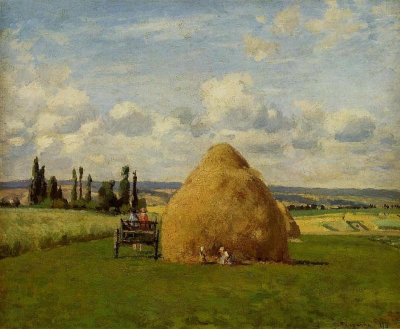Haystack, Pontoise. (1873). Camille Pissarro