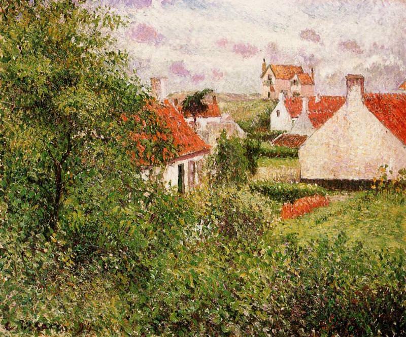 Houses at Knocke, Belgium. (1894). Camille Pissarro