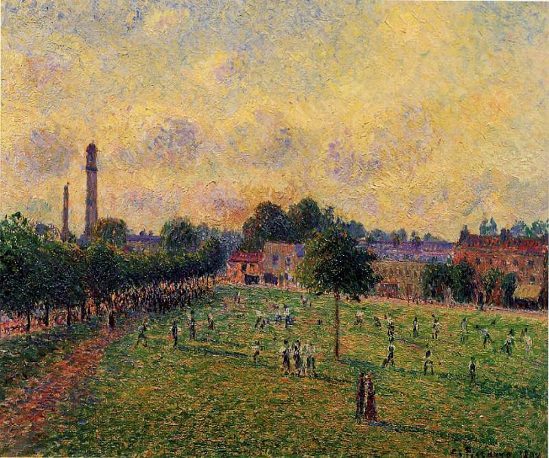 Сады в Кью (1892). Камиль Писсарро