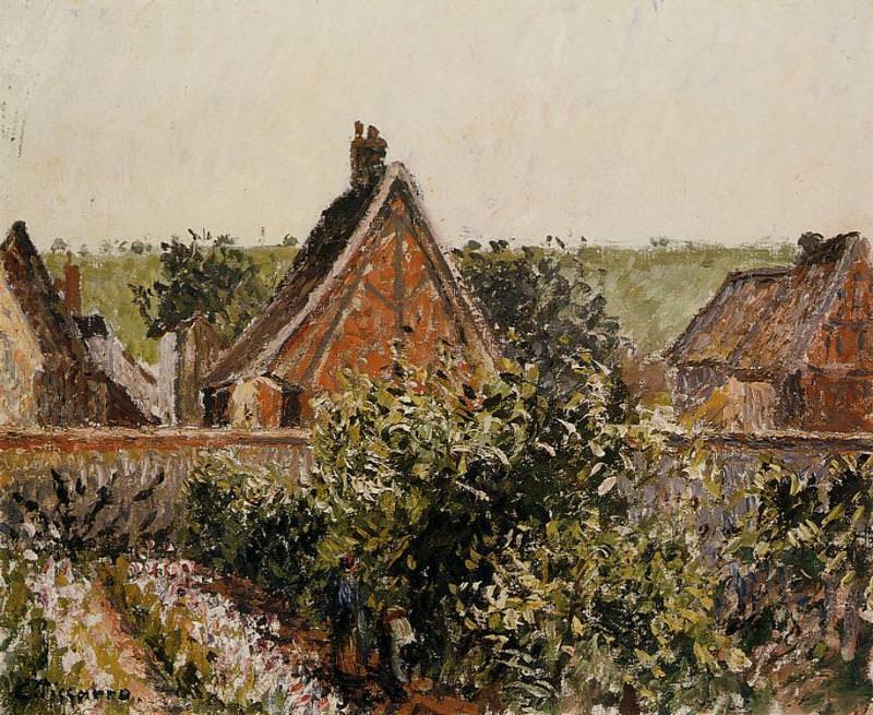 Harvest in the Orchard, Eragny. (1899). Camille Pissarro