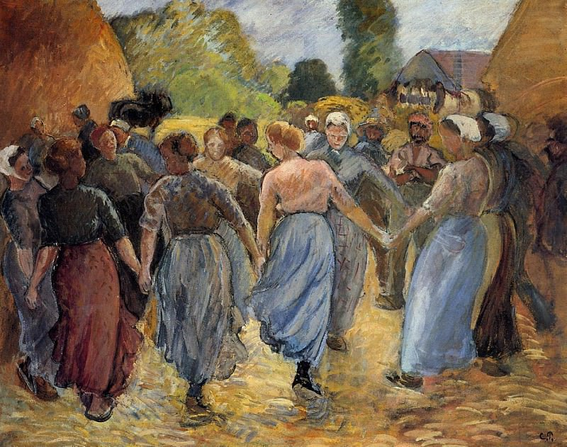La Ronde. (1894). Camille Pissarro