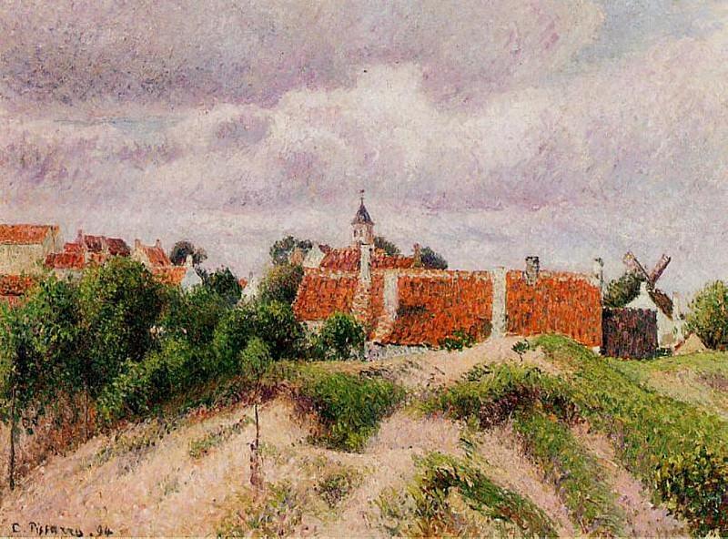 The Village of Knocke, Belgium. (1894). Camille Pissarro