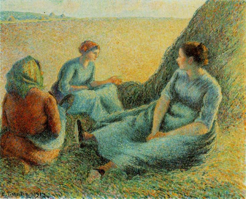 Pissarro Haymakers resting, 1891, 65.4x81.3 cm, McNay Art In. Camille Pissarro