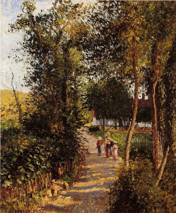 Route de Berneval0le-Petit. (1900). Camille Pissarro