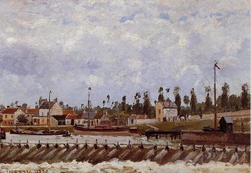 Дамба Понтуаза (1872). Камиль Писсарро