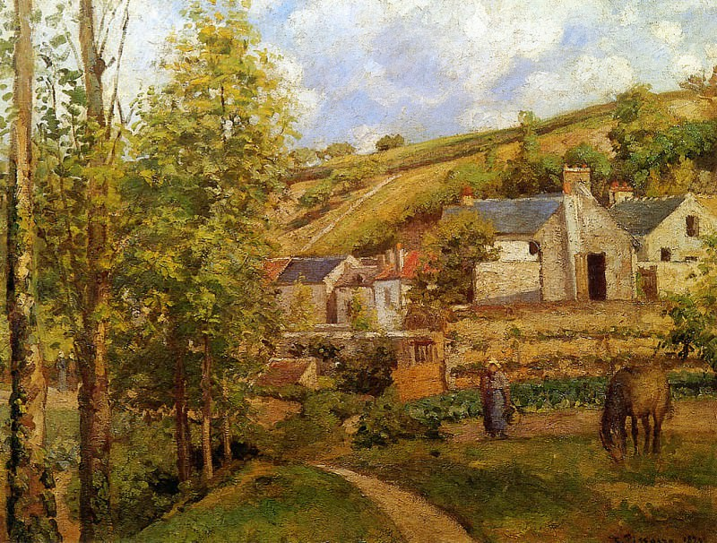 View on Ermitage. Camille Pissarro