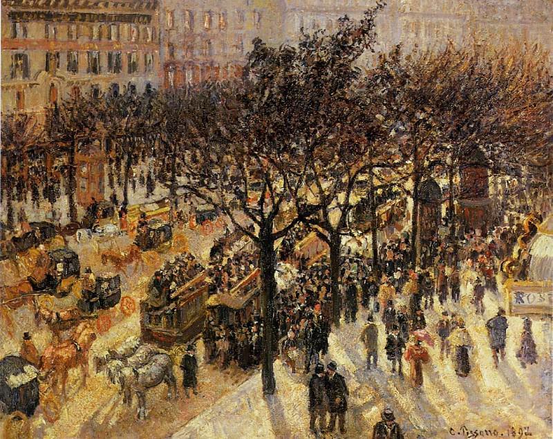 Boulevard des Italiens - Afternoon. (1987). Camille Pissarro