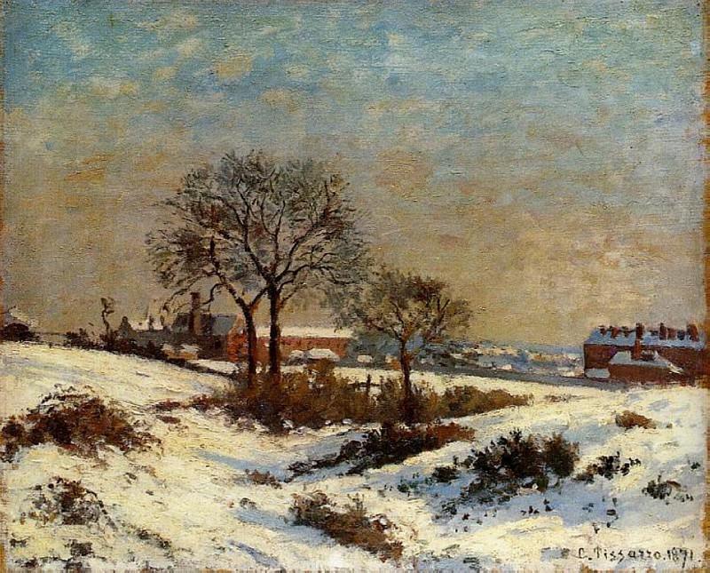 Landscape under Snow, Upper Norwood. (1871). Camille Pissarro