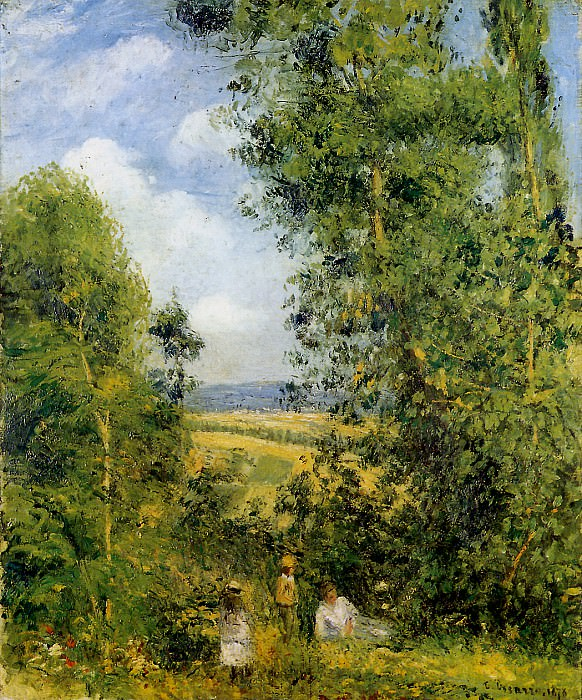 Resting in the woods Pontoise. Camille Pissarro