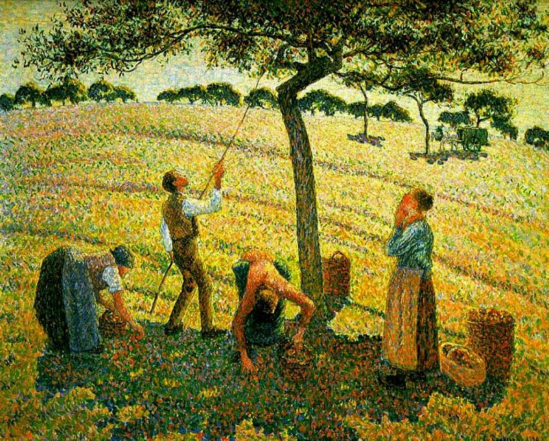 Apple Pickers, Eragny. 1888. Camille Pissarro