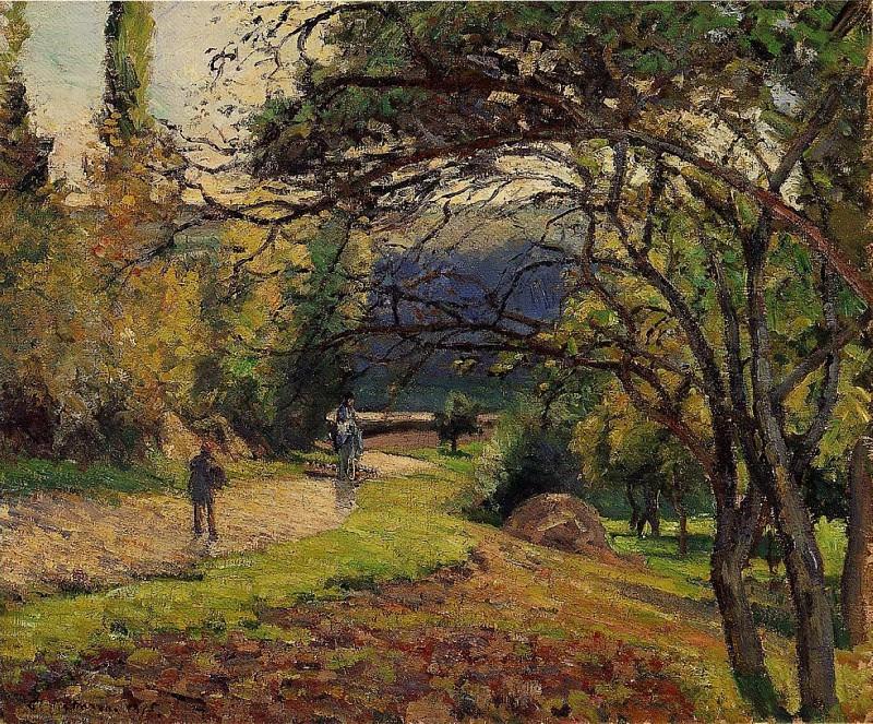 The Little Bridge, Pontoise. (1875). Camille Pissarro