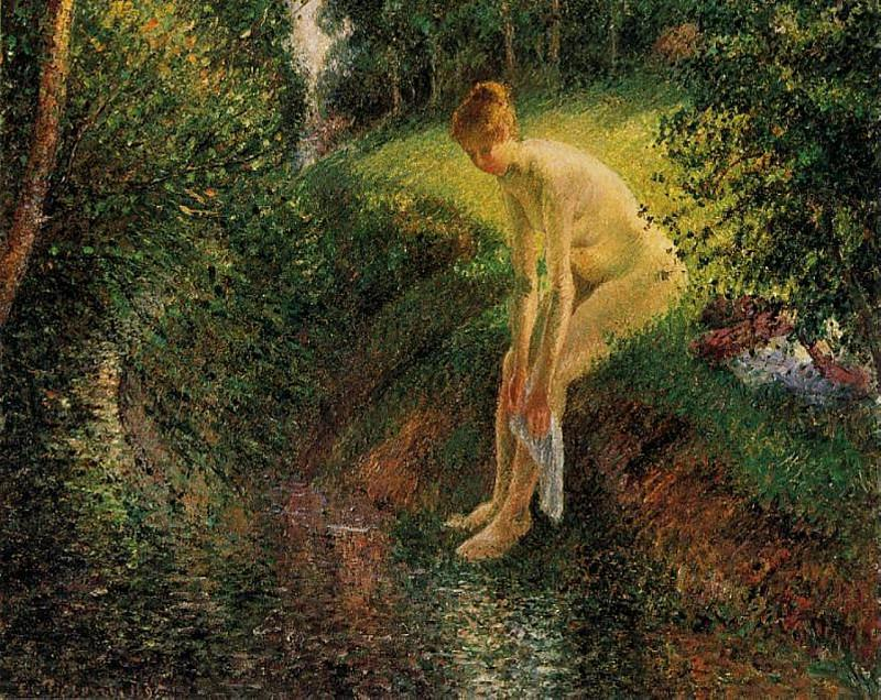 Bather in the Woods. (1985). Camille Pissarro