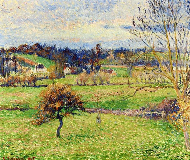 Field at Eragny. (1885). Camille Pissarro