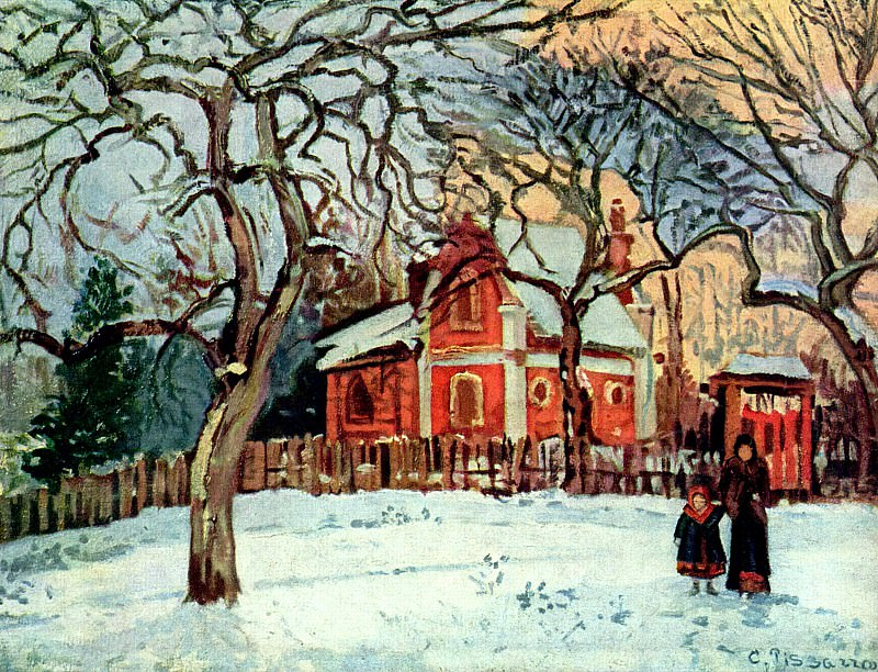 Chestnut Trees, Louveciennes, Winter 1872. Camille Pissarro
