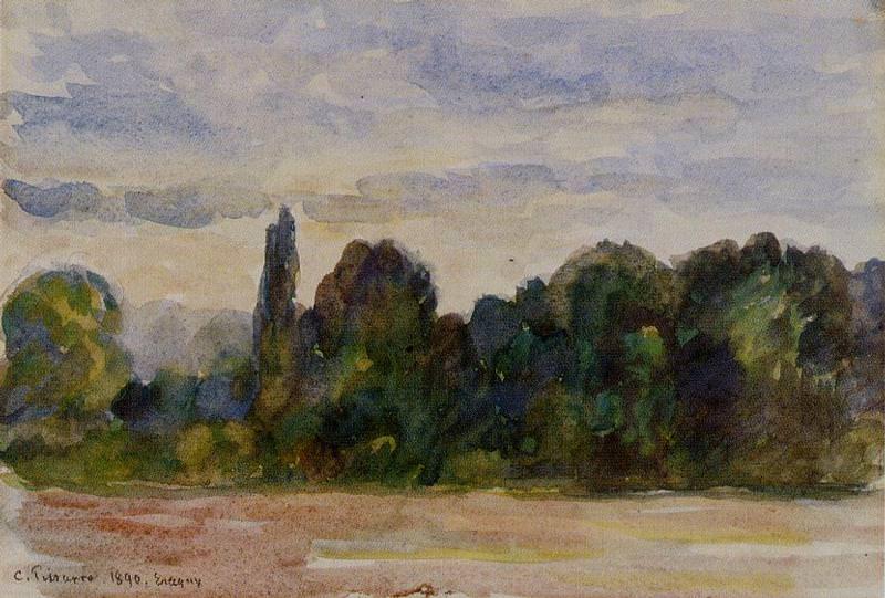 Деревья, Эраньи (1890). Камиль Писсарро