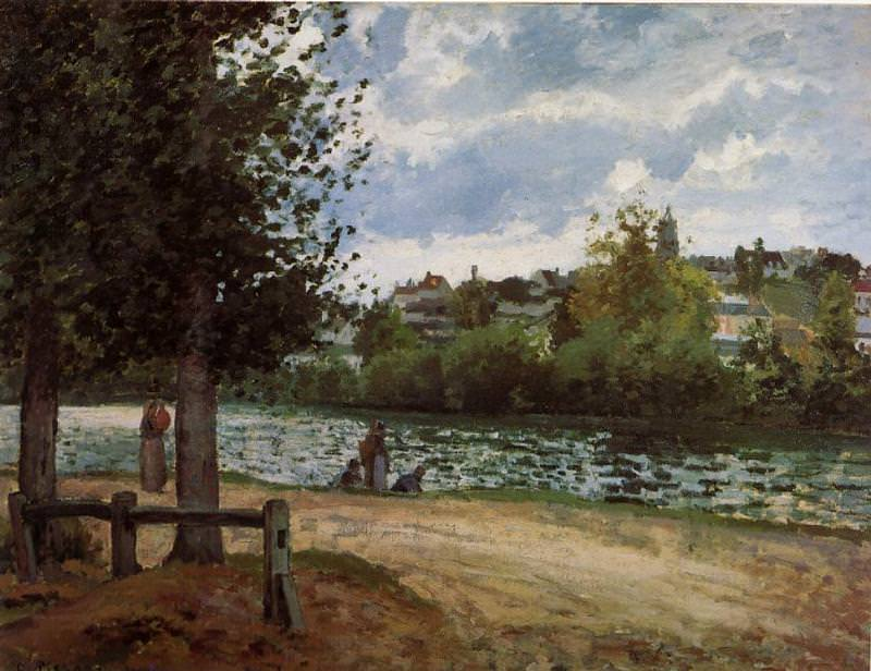 Banks of the Oise in Pontoise. (1870). Camille Pissarro
