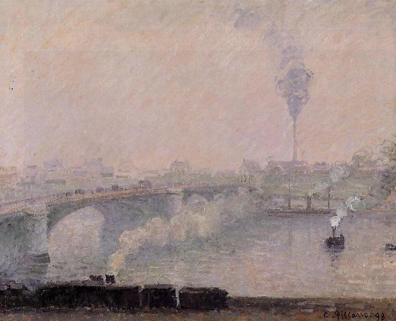 Руан, впечатление от тумана (1898). Камиль Писсарро
