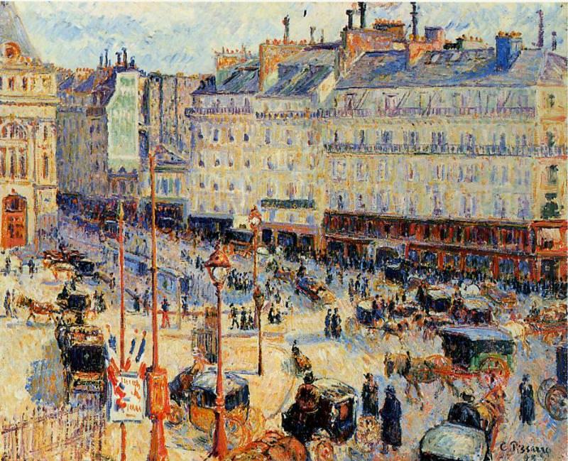 Place du Havre, Paris. (1893). Camille Pissarro