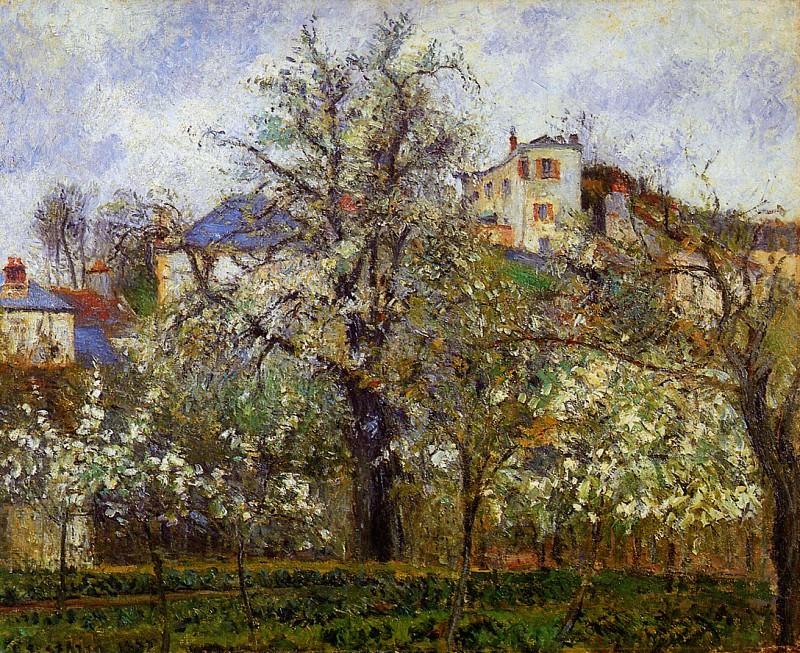 Springtime in Pontoise. Camille Pissarro