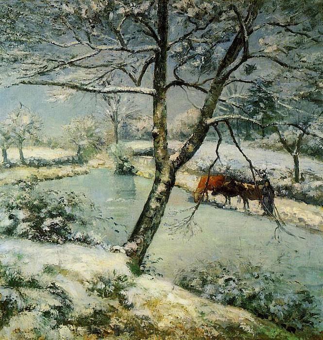 Winter at Montfoucault. (1875). Camille Pissarro