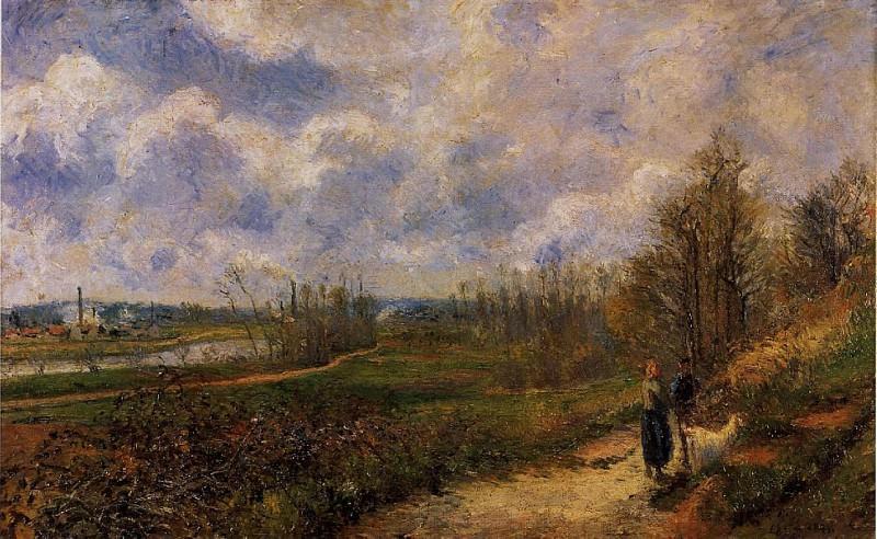 Path to Le Chou, Pontoise. (1878). Camille Pissarro