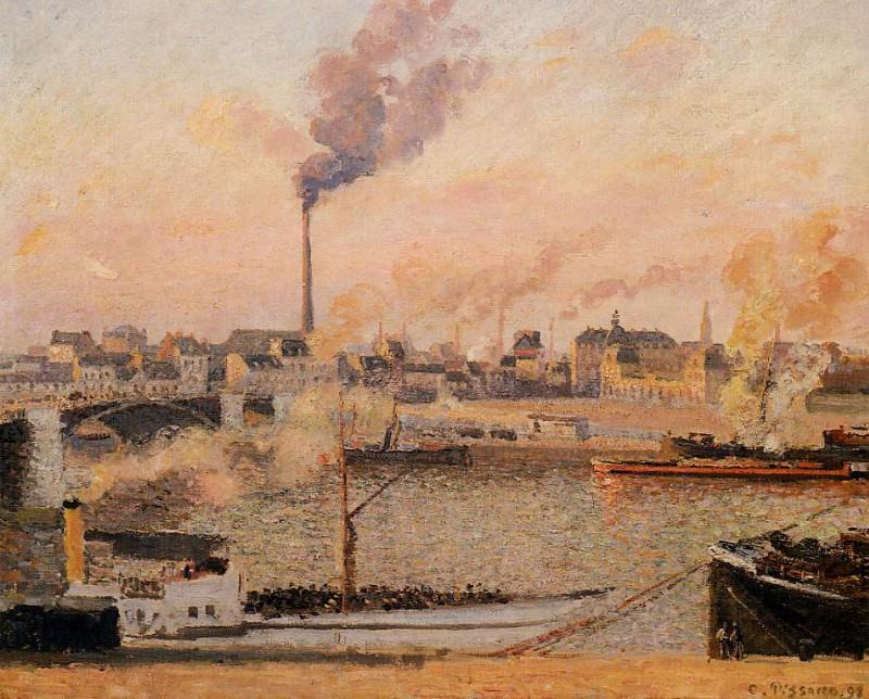 Saint-Sever, Rouen - Morning, Five OClock. (1898). Camille Pissarro