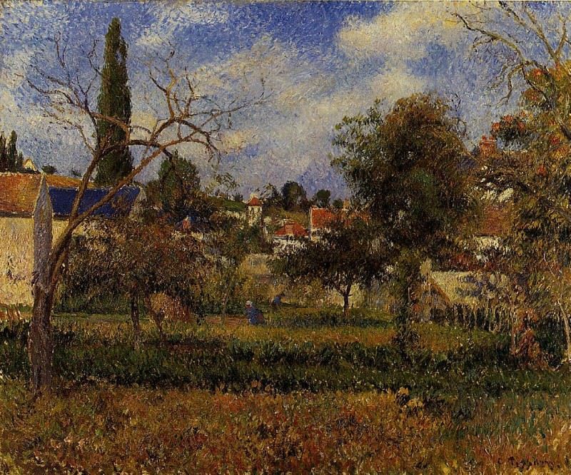 Kitchen Gardens, Pontoise. (1881). Camille Pissarro