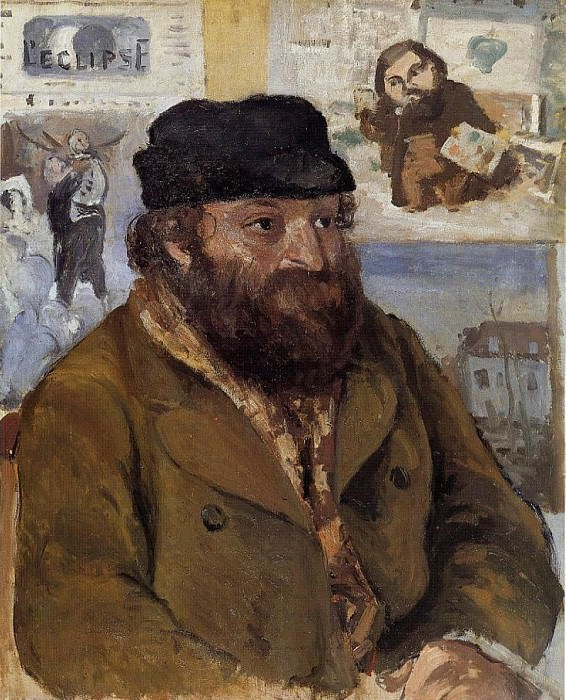 Portrait of Paul Cezanne. (1874). Camille Pissarro