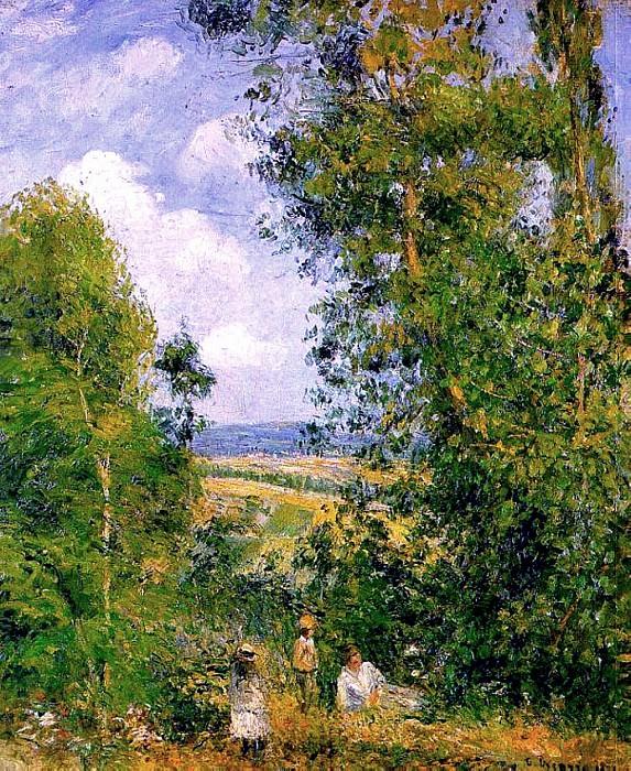 Отдых в лесах Понтуаза (1878). Камиль Писсарро