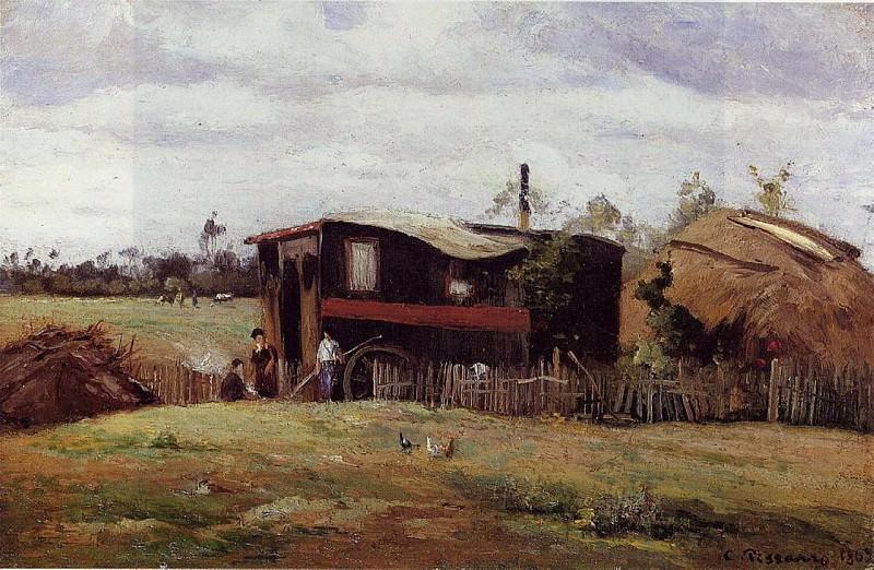 La roulette des Bohemiens. (1862). Camille Pissarro