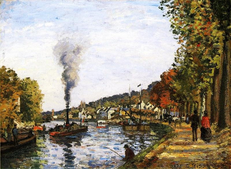 The Seine at Marly. (1871). Camille Pissarro