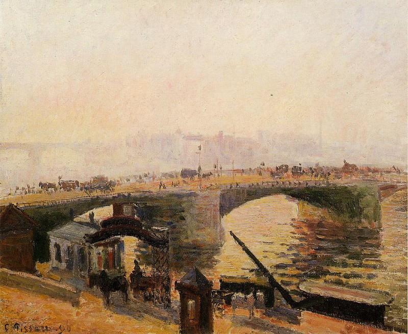 Fog, Morning, Rouen. (1896). Camille Pissarro