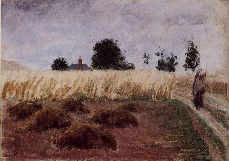 Peasant Woman on a Country Road. Camille Pissarro