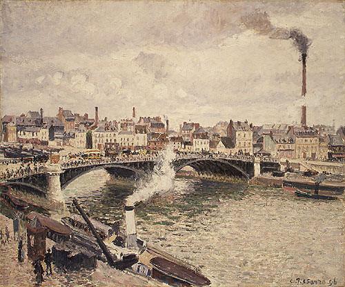 Утро хмурого дня в Руане 1896. Камиль Писсарро