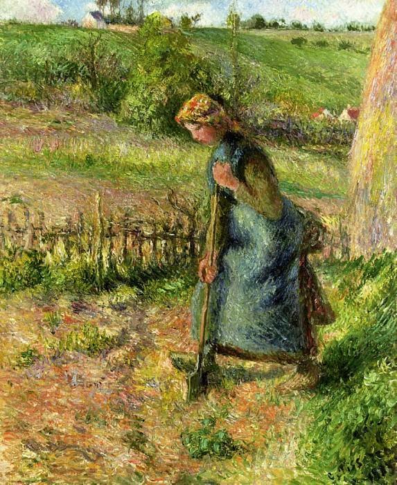 Woman Digging. (1883). Camille Pissarro