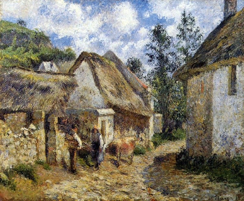 A Street in Auvers. (1880). Camille Pissarro