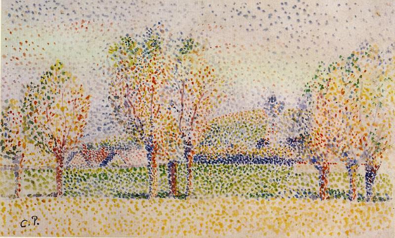 Пейзаж в Эраньи (1886). Камиль Писсарро