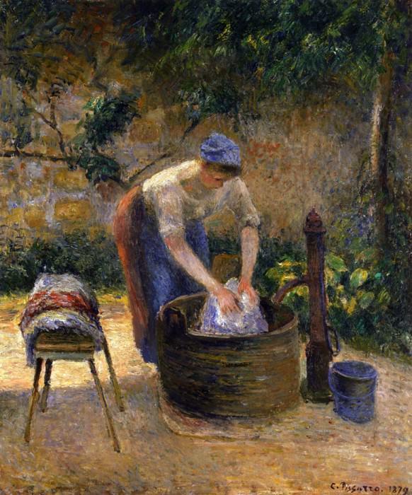Прачка (1879). Камиль Писсарро