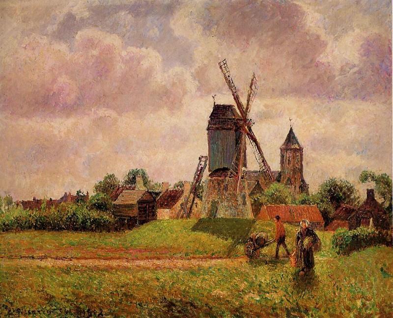 Ветряная мельница в Кноке, Бельгия. Камиль Писсарро