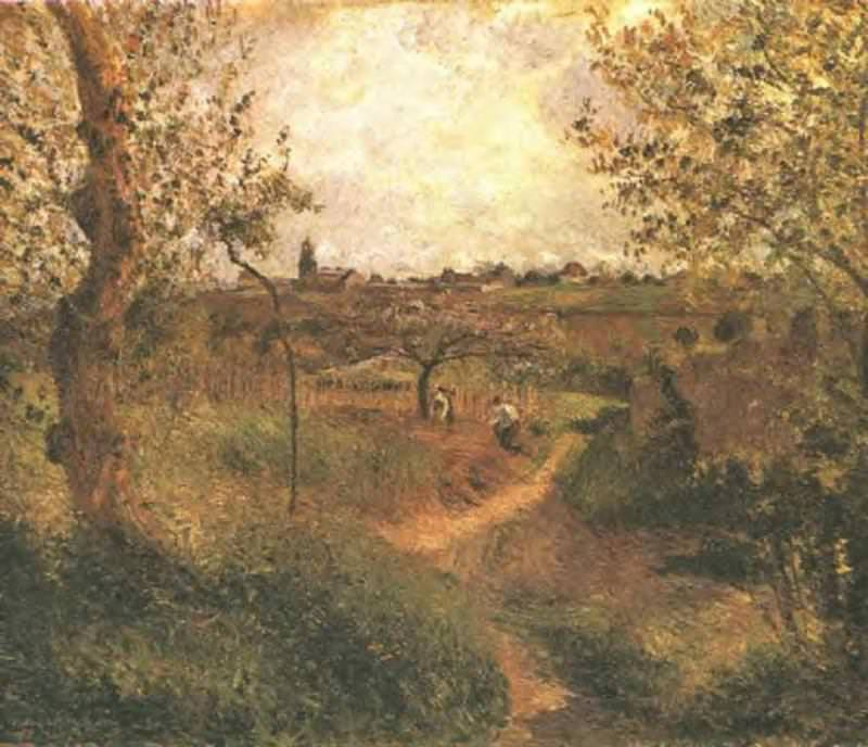A Path Across the Fields. 1879. Camille Pissarro
