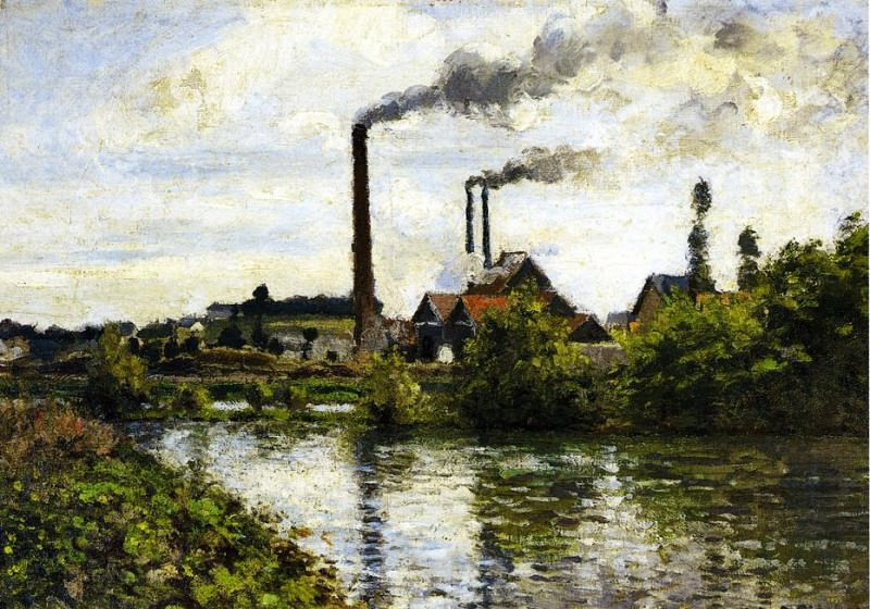 The Factory at Pontoise. (1973). Camille Pissarro