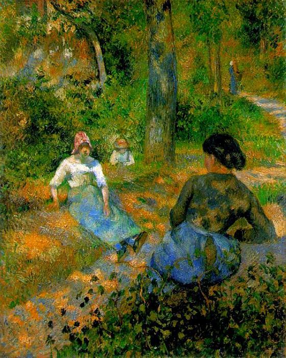 Peasants Resting. (1881). Camille Pissarro