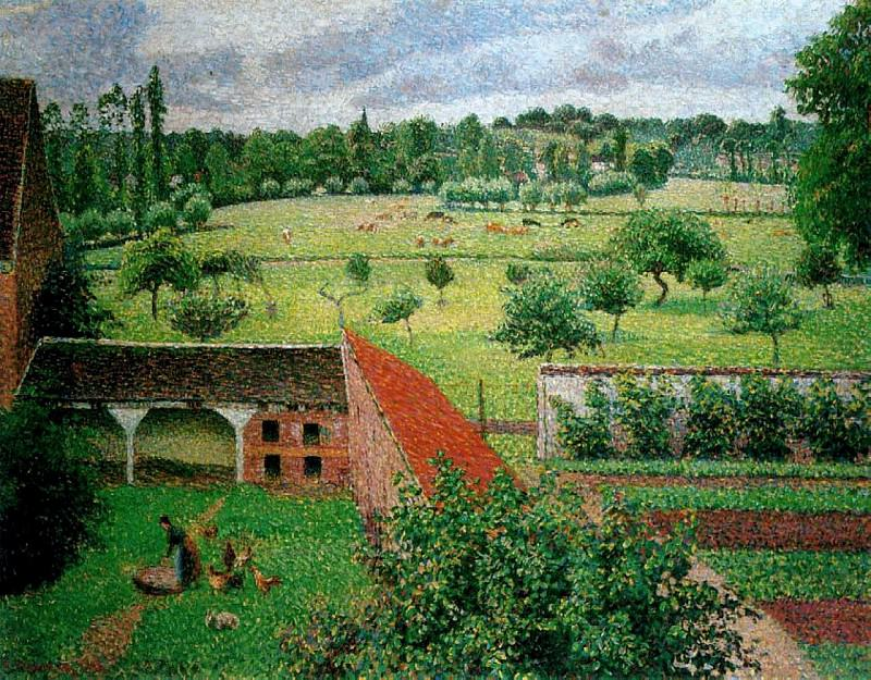 View from my Window, Eragny, 1886-88. Camille Pissarro